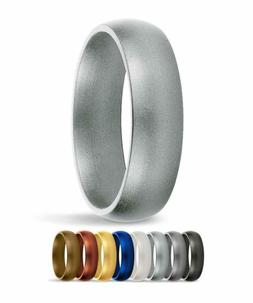 Saferingz Silicone Wedding Ring, 6Mm, Made In The Usa, Men O