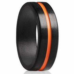 ThunderFit Silicone Ring for Men Rubber Wedding Band - 1 Rin