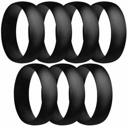 ThunderFit Silicone Rings, 7 Rings / 1 Ring Wedding Bands fo