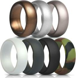 ThunderFit Silicone Rings, 7 Rings / 4 Rings / 1 Ring Weddin