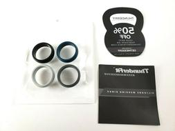 ThunderFit SILICONE RINGS Mens Wedding Bands 4 Pack Size 12