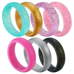 UNTOUCHBLE Silicone Rings Wedding Bands for Women
