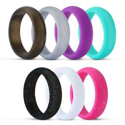 Silicone Rings Wedding Bands for Women & Men Decoration Ring
