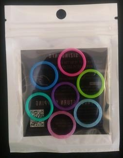 ThunderFit Silicone Rings Women's Wedding Bands 7 Pack, Size