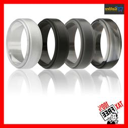 silicone wedding ring for men 4 pack