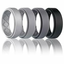 silicone wedding ring for men breathable mens