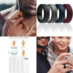ROQ Silicone Wedding Ring for Men, Elegant, Affordable 8mm S