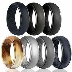Egnaro Silicone Wedding Ring for Men, Particularly Breathabl