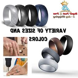 silicone wedding ring for men sleek rubber