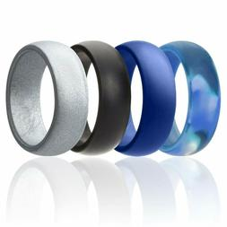 Roq Silicone Wedding Ring Men Affordable Silicone Rubber Ban