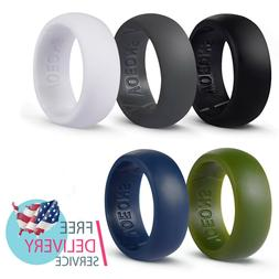 Silicone Wedding Ring Set for Men Active Rubber Wedding Band