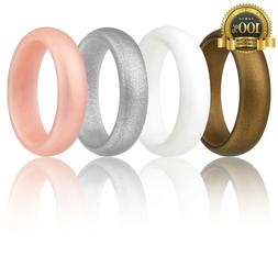 Silicone Wedding Ring Women ROQ Set of 4 Silicone Rubber New