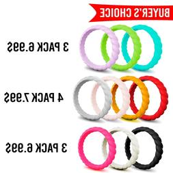 Silicone Wedding Ring Women II Rubber Band Thin Engagement S