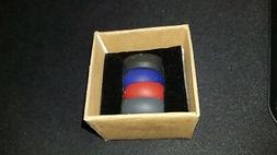 ThunderFit Silicone Wedding Rings 4 Pack Black Gray Red Blue