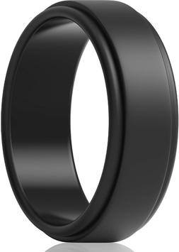 ThunderFit Silicone Wedding Rings for Men 7 Rings / 4 Rings
