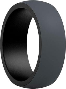 ThunderFit Silicone Wedding Rings for Men - 7 Rings / 4 Ring