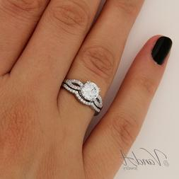 Sterling Silver Women's 925 Wedding Band CZ Bridal Engagemen