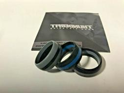 Thunderfit Silicone Rings Blue Line 3 Pack Size 9 Wedding Ri