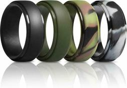 Thunderfit Silicone Rings For Men - 4 Rings / 1 Ring Step Ed