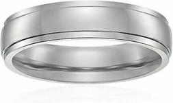 Titanium 5mm Comfort Fit Wedding Band with High Polish Finis
