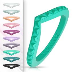 Unique Stackable Silicone Wedding Rings | Wedding Bands for
