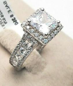 Women's Genuine Solid Real 925 Sterling Silver Princess CZ P