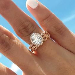 Women's Unique Cubic Zirconia 14K Gold Filled Wedding Engage