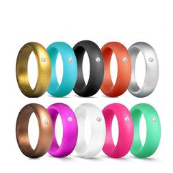 Women's Wedding Engagement Rings Silicone Band Sports Rubber